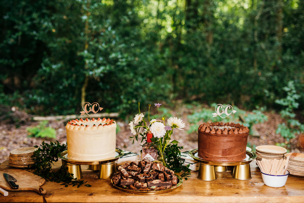 Cake Table Dessert Lila's Wood Wedding Two-D Photography