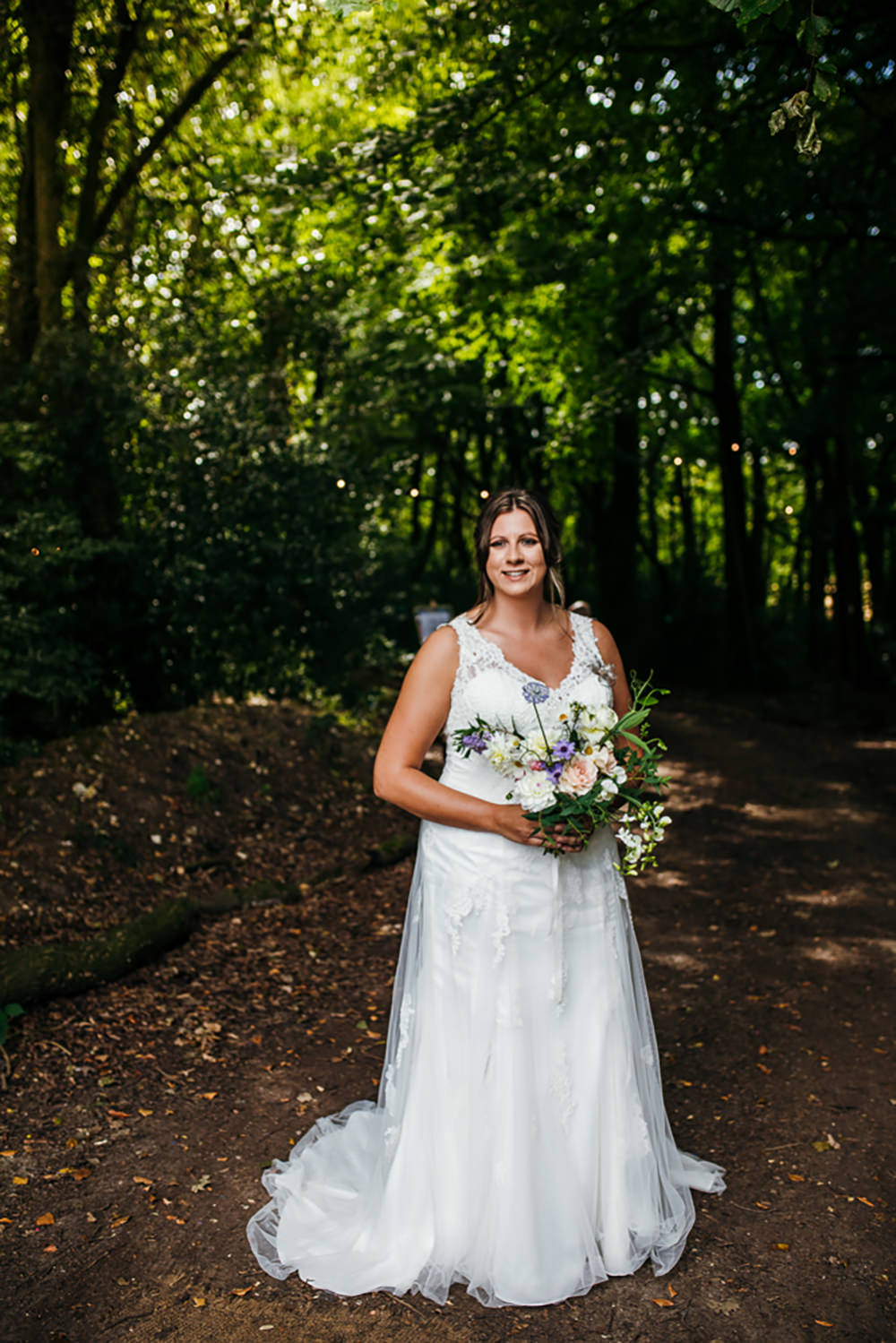 Bride Bridal Dress Gown V Neck Lila's Wood Wedding Two-D Photography