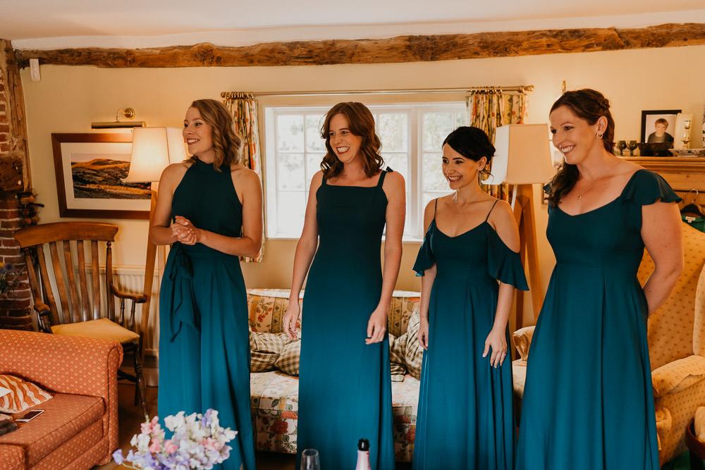 Bridesmaids Bridesmaid Dress Dresses Teal Country Festival Wedding Jonny Gouldstone Photography