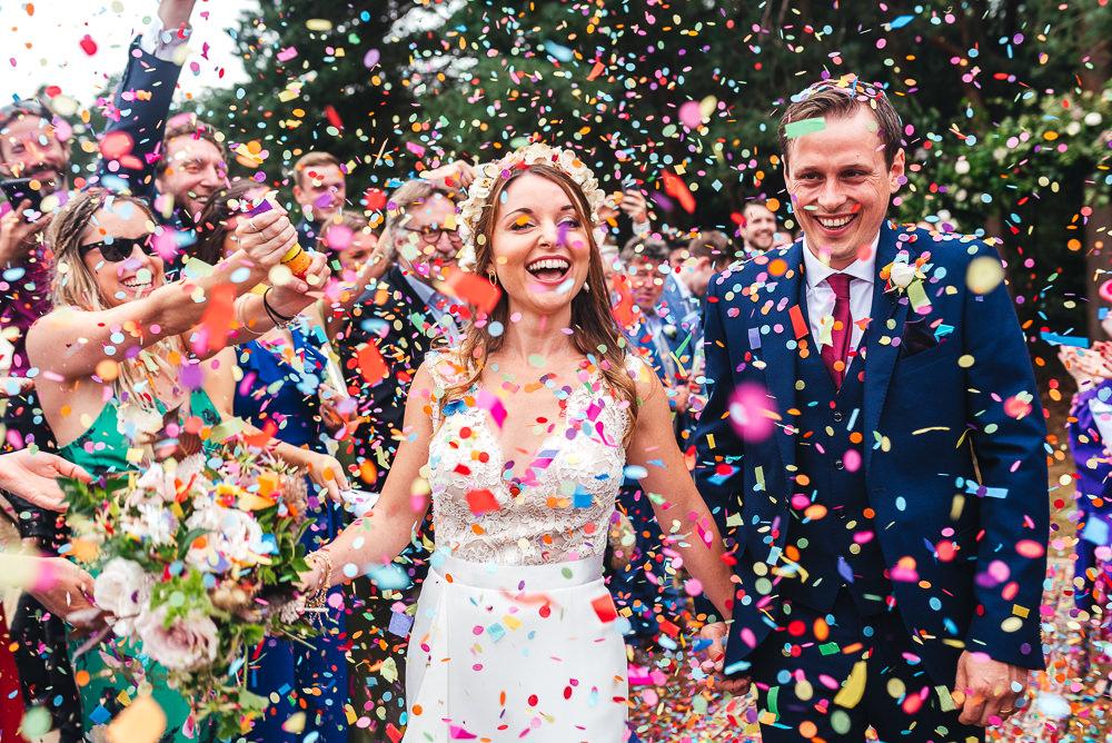 Confetti Throw Multicolour Festival Party Wedding Kirsty Mackenzie Photography