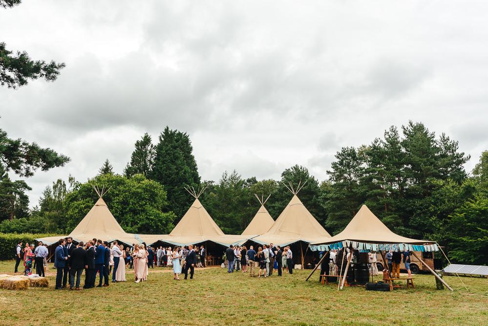 Tipi Reception Woodland Festival Party Wedding Kirsty Mackenzie Photography