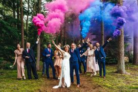 Festival Party Wedding Kirsty Mackenzie Photography Smoke Bomb Portrait Photo Photography