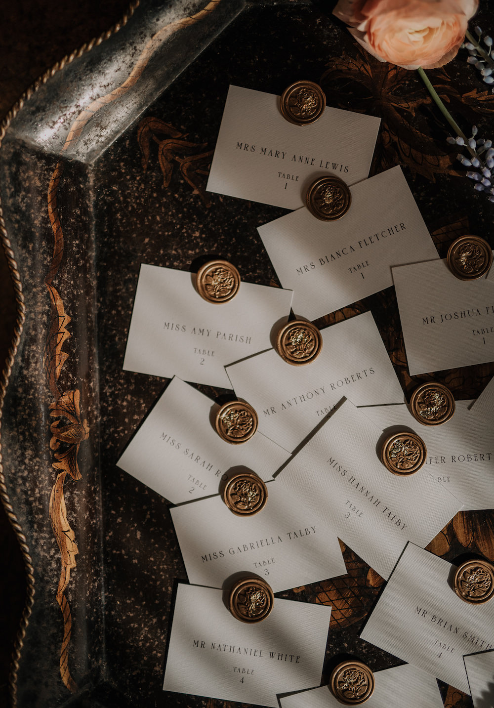 Place Name Cards Stationery Wax Seal France Elopement Ideas Pierra G Photography