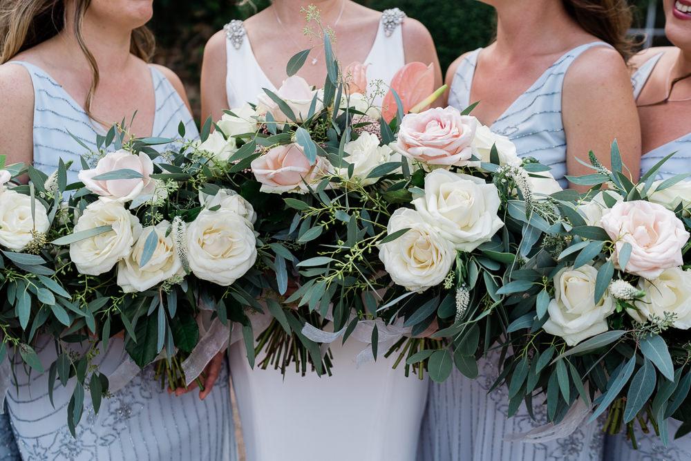 Bouquet Flowers Bride Bridal Protea Lily Flamingo Palms Tropical Bridesmaids Great Lodge Wedding Gemma Giorgio Photography