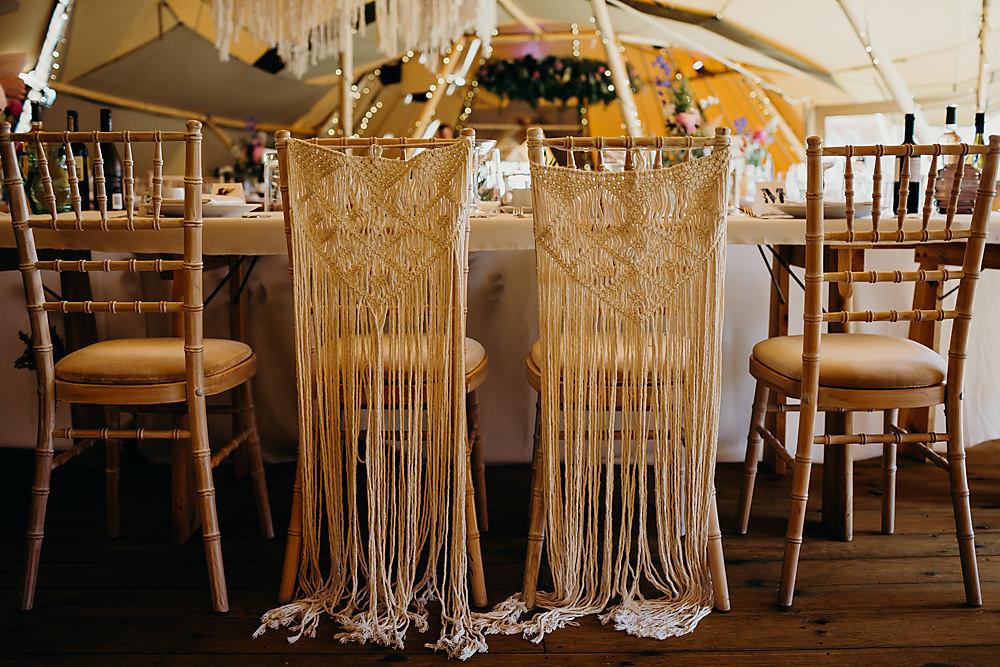 Macrame Chair Covers Hadsham Farm Wedding Victoria Somerset How Photography