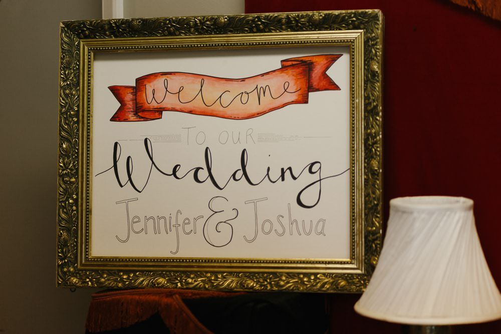 Welcome Sign Signs Signage Illustrated Village Hall Wedding Emily + Katy Photography