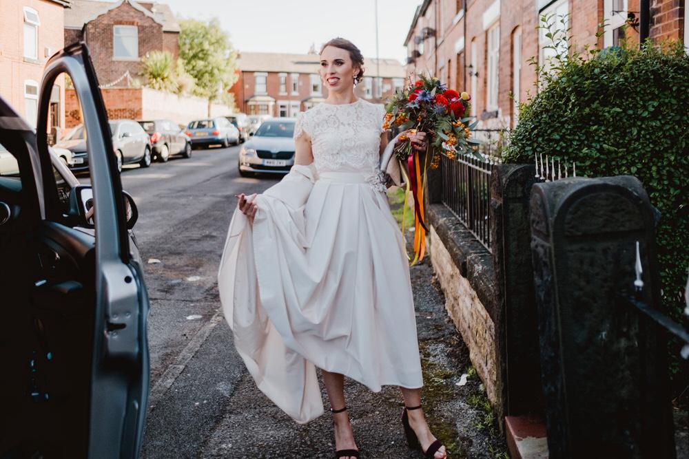 Dress Gown Bride Bridal Katya Katya Lace Top HOME Manchester Wedding Kate McCarthy Photography