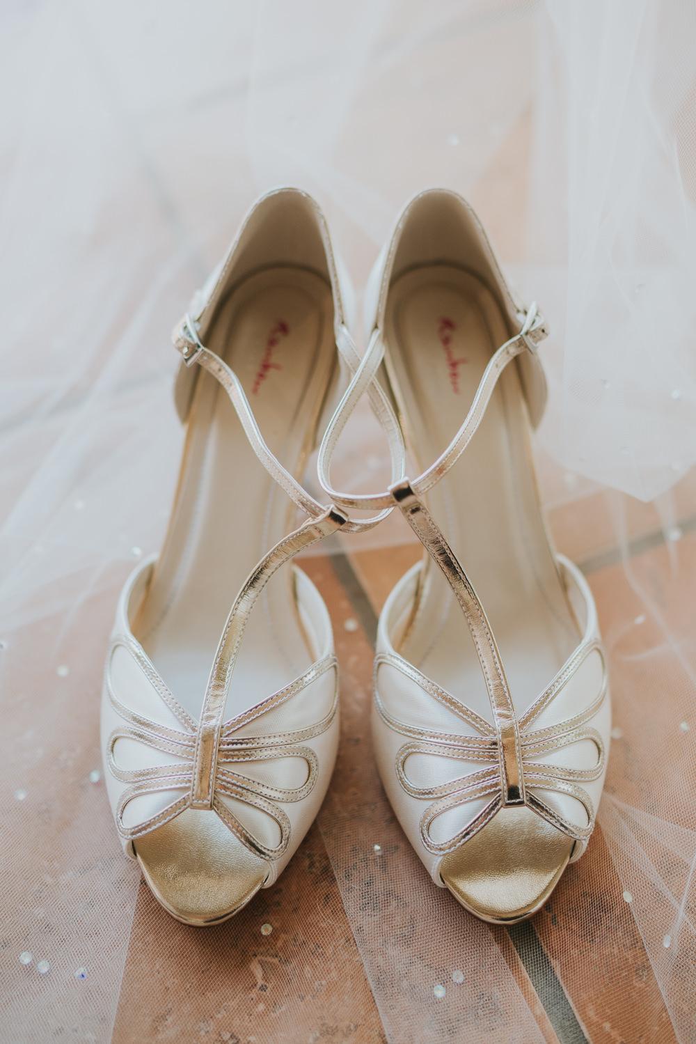 Peep Toe Shoes Bride Bridal High House Weddings Grace Elizabeth Photography