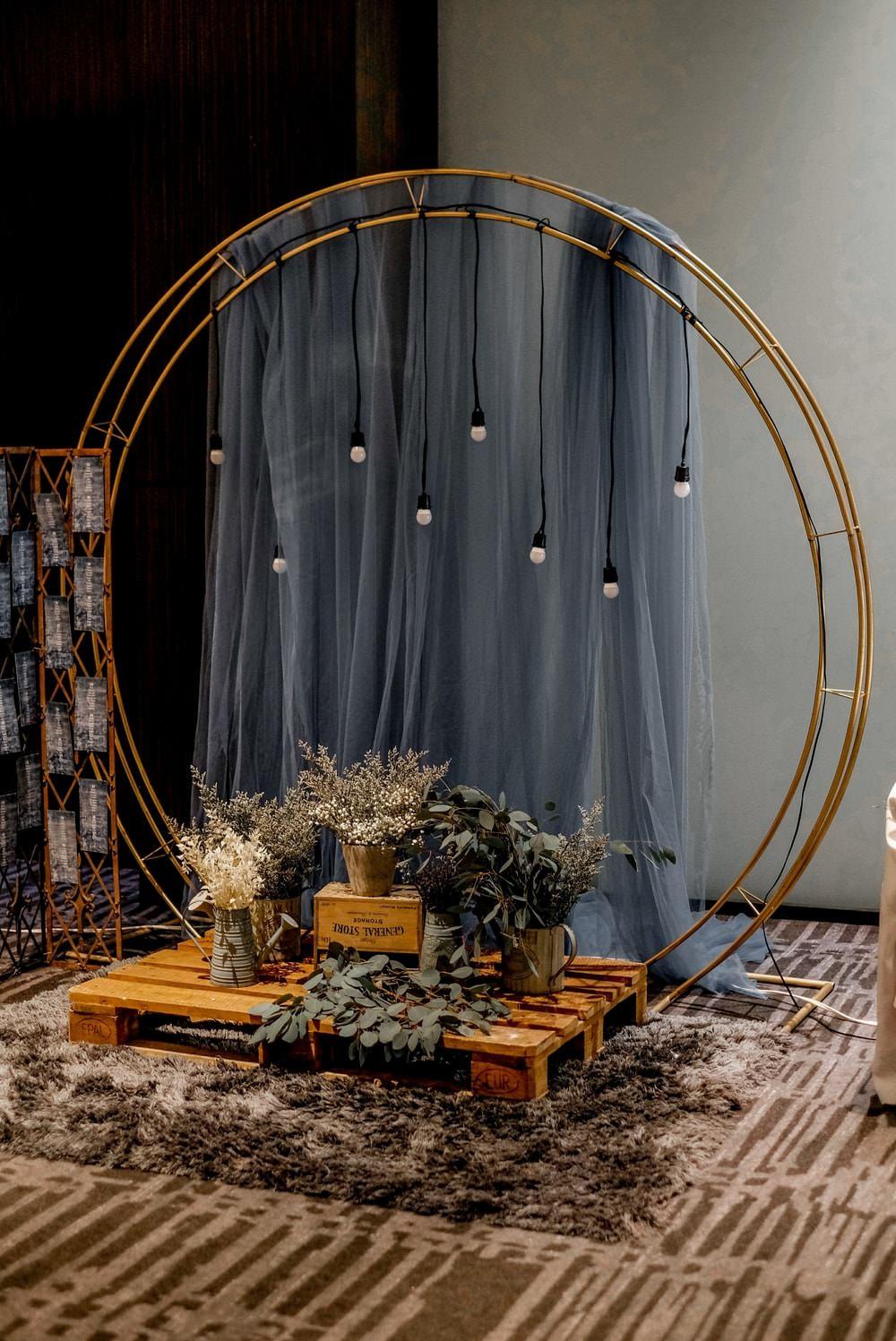 Hoop Backdrop Festoon Lights Fabric Flowers Philippines Wedding The Backyard Studios