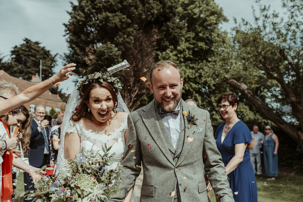 Confetti Throw Red Brick Barn Wedding Jess Soper Photography