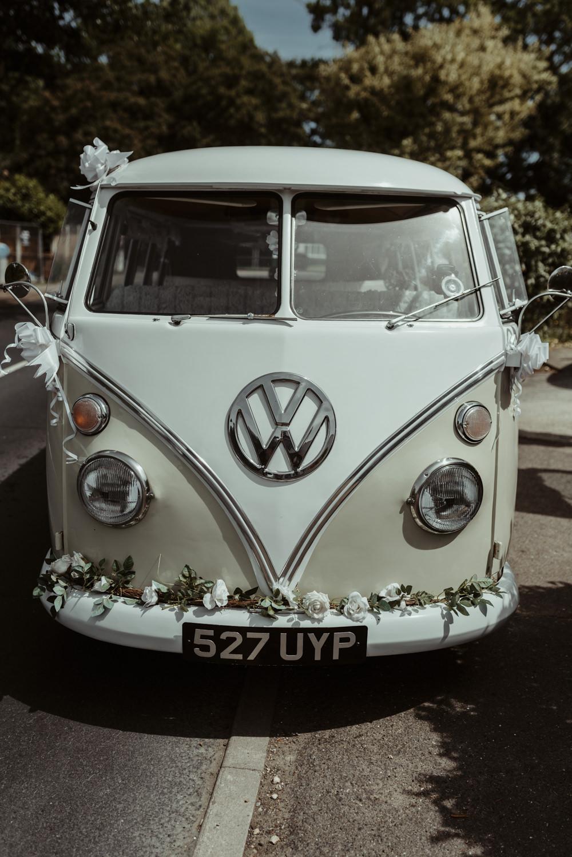 VW Campervan Red Brick Barn Wedding Jess Soper Photography
