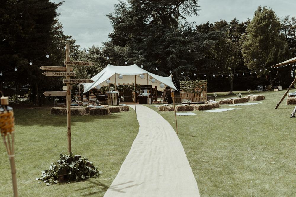 Stretch Tent Marquee Garden Red Brick Barn Wedding Jess Soper Photography