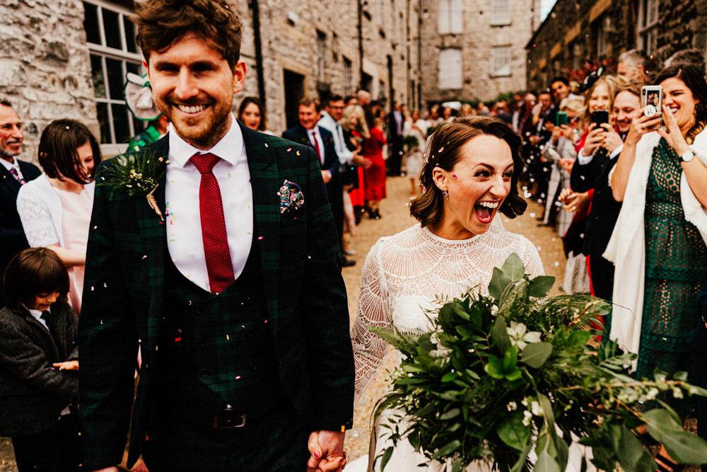Confetti Throw Brewery Wedding Ginger Beard Weddings