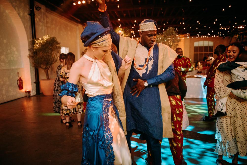Aso Ebi Traditional Outfits Bride Groom British Nigerian Wedding Andrew Brannan Photography