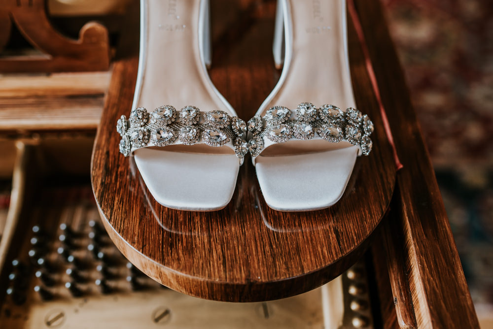 Bride Bridal Shoes Chippenham Park Wedding Daniel Ackerley Photography