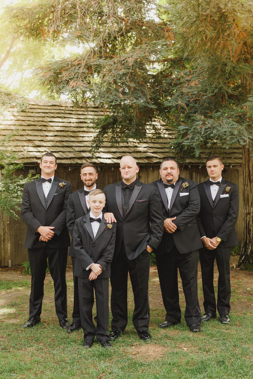 Groom Groomsmen Tux Tuxedo Bow Tie Enchanted Forest Wedding Kristen Booth Photography
