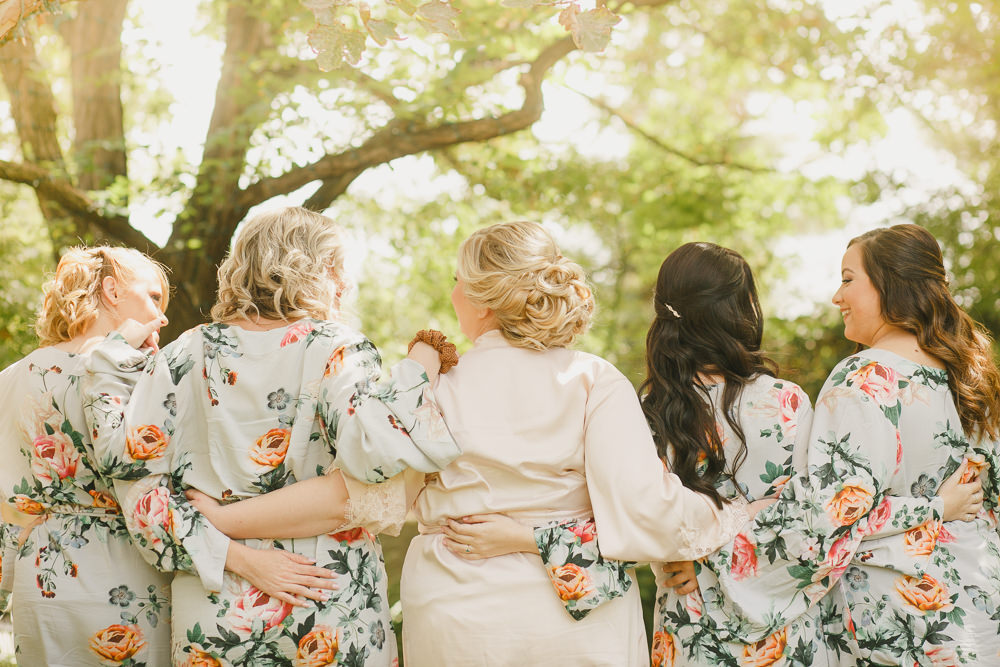 Bride Bridal Bridesmaid Dressing Gown Robes Enchanted Forest Wedding Kristen Booth Photography