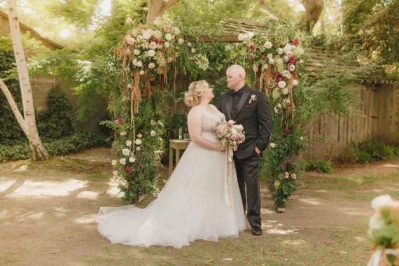 Enchanted Forest Wedding Kristen Booth Photography Flower Arch Backdrop Ceremony Greenery