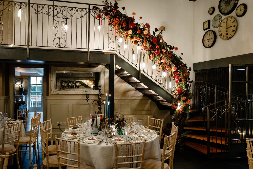 Staircase Flowers Lights Lighting Great John Street Hotel Wedding About Today Photography