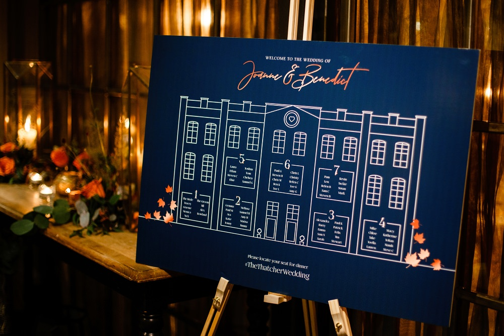 Table Plan Seating Chart Copper Navy Great John Street Hotel Wedding About Today Photography