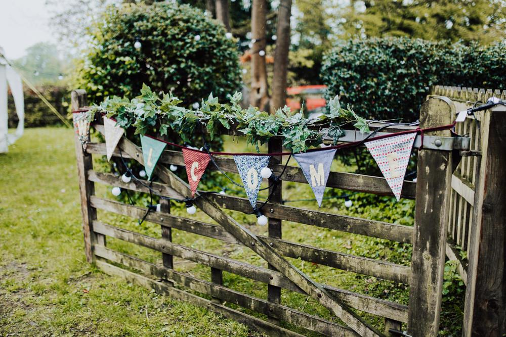 Personalised Bunting Homemade Wedding Wyldbee Photography