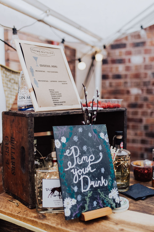 Drinks Bar Homemade Wedding Wyldbee Photography