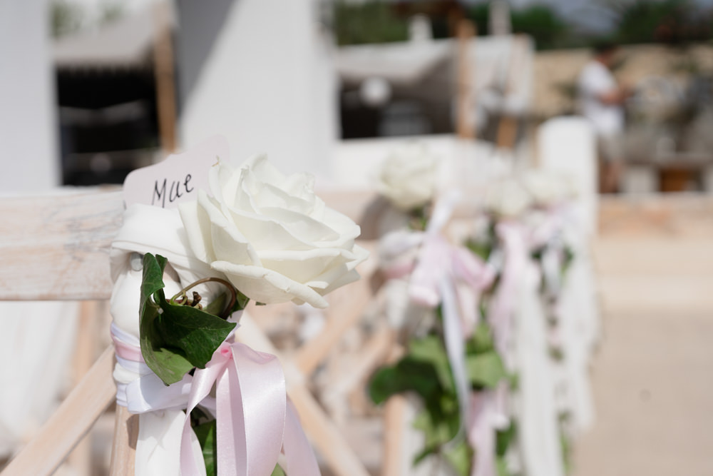 Pew End Chair Aisle Flowers Ibiza Destination Wedding David Christopher Photography