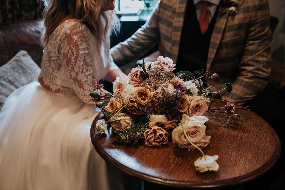 Bouquet Flowers Bride Bridal Rose Lake District Elopement Jenny Appleton Photography