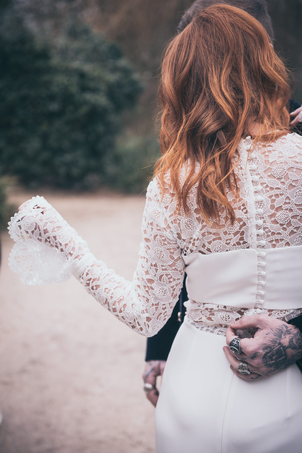 Dress Gown Bride Bridal Lace Sleeves Andrea Hawkes Bridal Buttons Modern Wedding Ideas Cat Arwel Photography