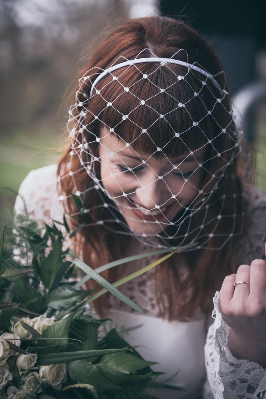Birdcage Veil Bride Bridal Modern Wedding Ideas Cat Arwel Photography