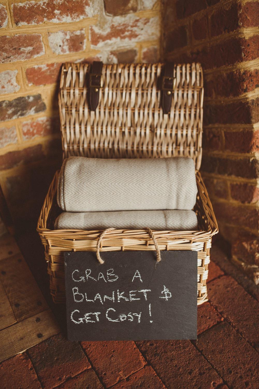 Blanket Basket Old Greens Barn Wedding Matt Penberthy Photography