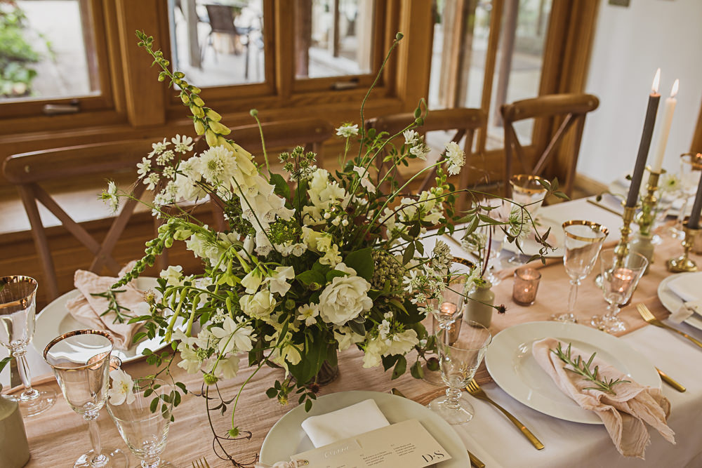 Table Tablescape Decor Candles Flowers Greenery Blush Pink Small Wedding Ideas The Springles