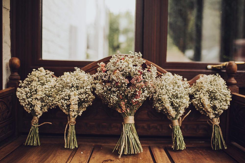 Dried Flowers Bouquet Bride Bridal Bridesmaid Treehouse Wedding Honeydew Moments