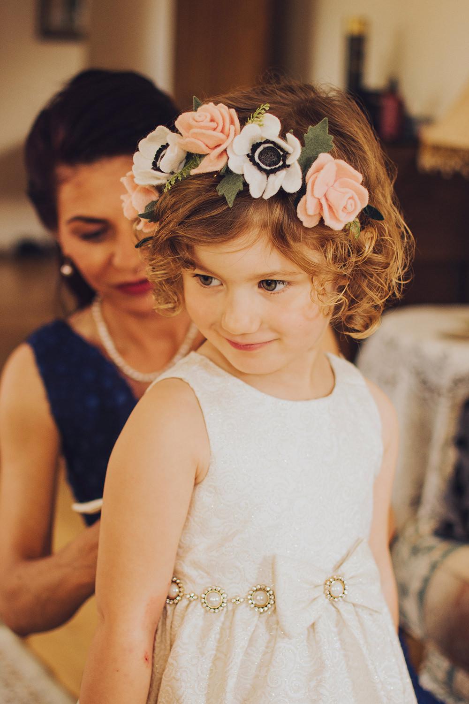 Flower Girl Flower Crown Treehouse Wedding Honeydew Moments
