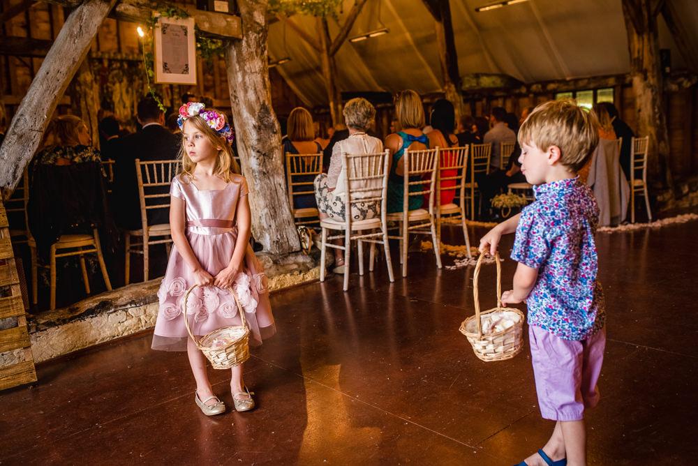 Flower Girl Page Boy Colville Hall Wedding GK Photography