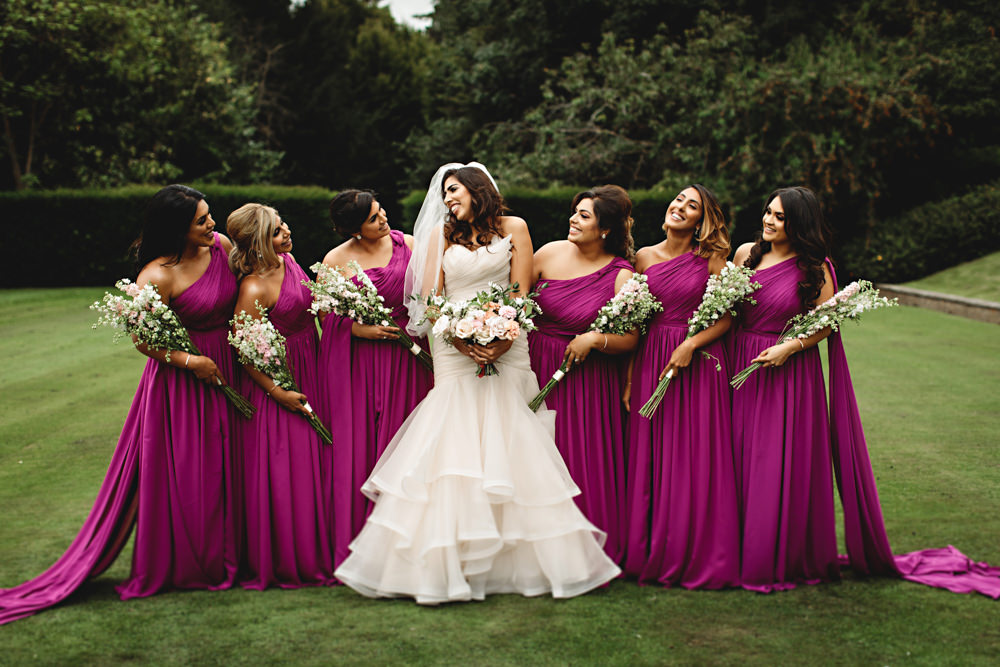 Pink Magenta Bridesmaid Dress Bridesmaids Dresses Dunchurch Park Hotel Wedding HBA Photography