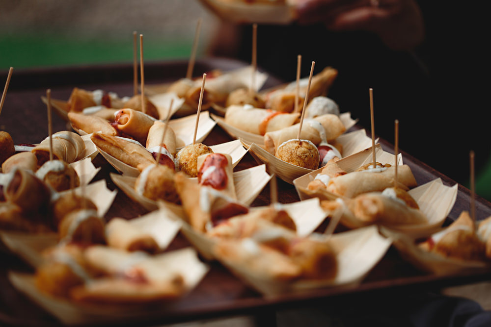 Canapes Dunchurch Park Hotel Wedding HBA Photography