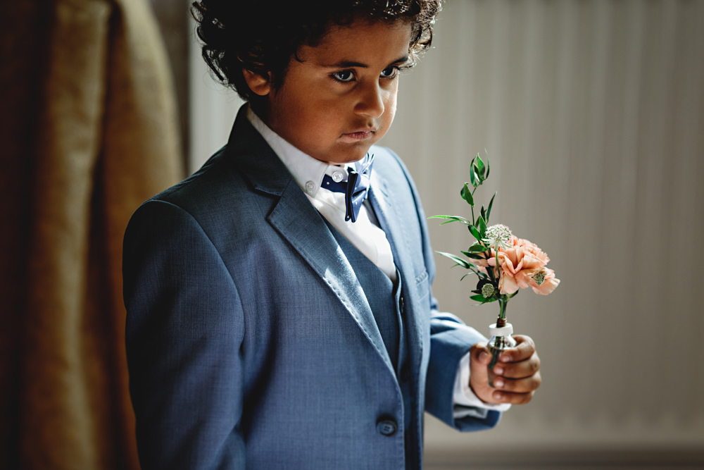 Page Boy Suit Bow Tie Dunchurch Park Hotel Wedding HBA Photography
