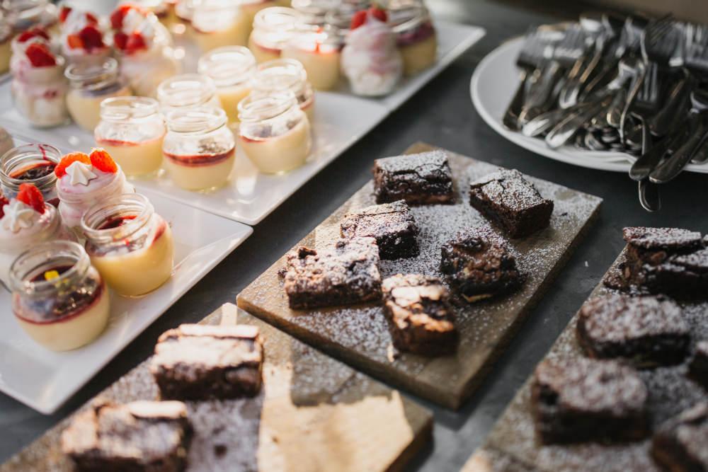 Dessert Pudding Field Kitchen Wedding Siobhan Amy Photography