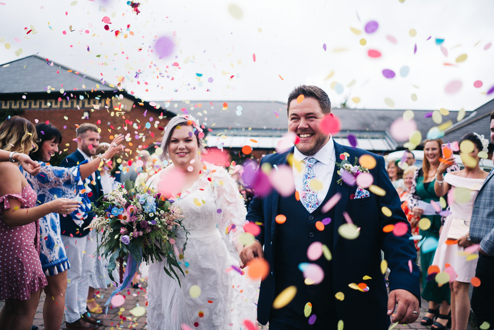 Confetti Throw Hammer and Pincers Wedding Sally T Photography