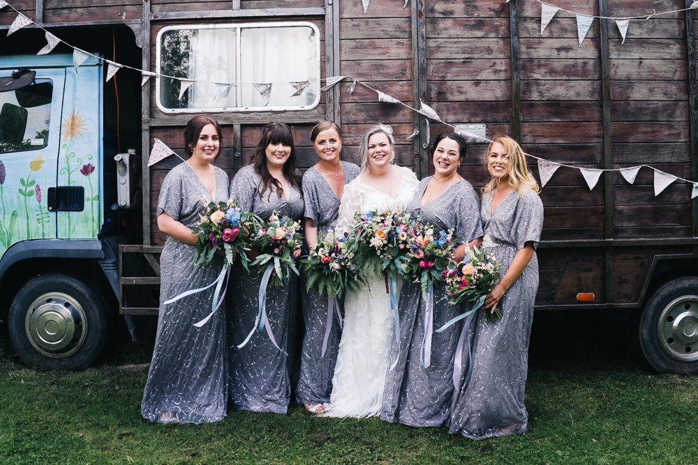 Bridesmaids Bridesmaid Dress Dresses Grey Sequin Hammer and Pincers Wedding Sally T Photography