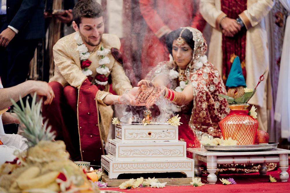Hindu Ceremony Indian Wedding UK Laura May Photography