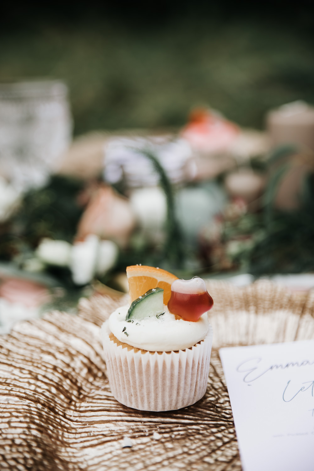 Micro Wedding Ideas Gareth J Photography Fruit Cupcake