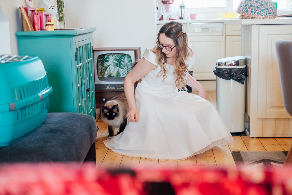 Bride Bridal Dress Gown Short Tea Length Pandemic Wedding Anna Pumer Photography