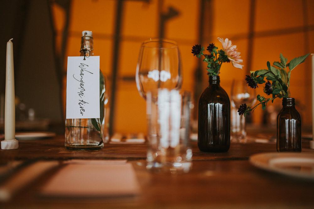 Place Name Setting Calligraphy Pennard Hill Farm Wedding MT Studio