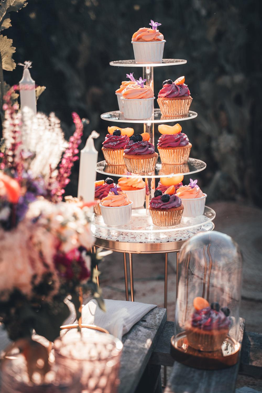 Cupcake Tower Cake Poppy Field Wedding NT Creatives