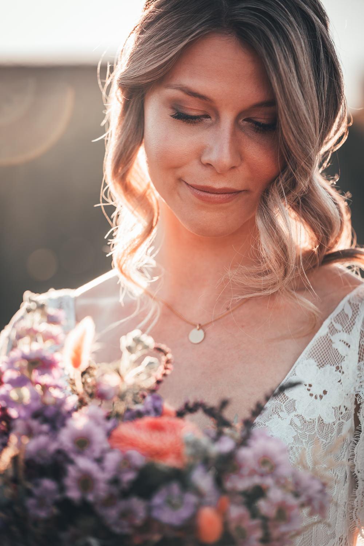Bride Bridal Make Up Poppy Field Wedding NT Creatives