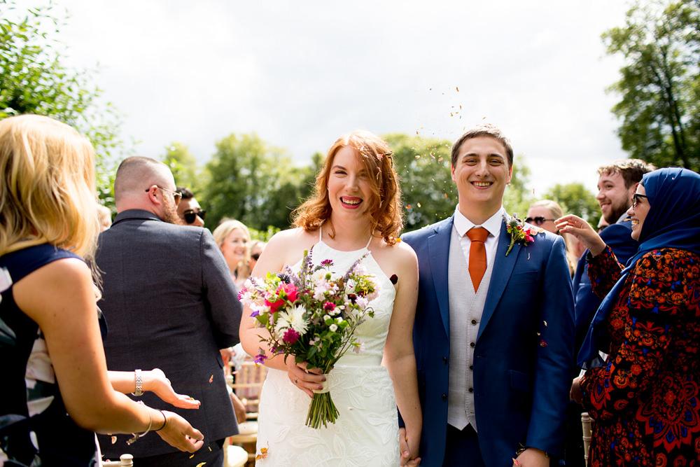Confetti Throw Pythouse Kitchen Garden Wedding Jessica Hayman Photography