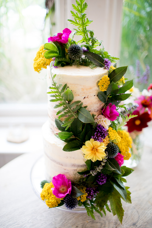 Buttercream Cake Flowers Floral Pythouse Kitchen Garden Wedding Jessica Hayman Photography