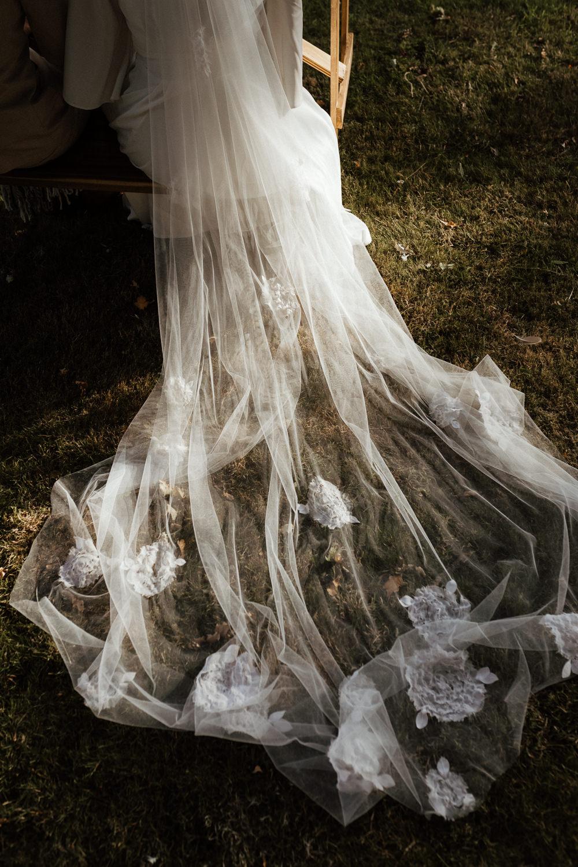 Veil Bride Bridal Small Wedding Ideas UK Caitlin and Jones